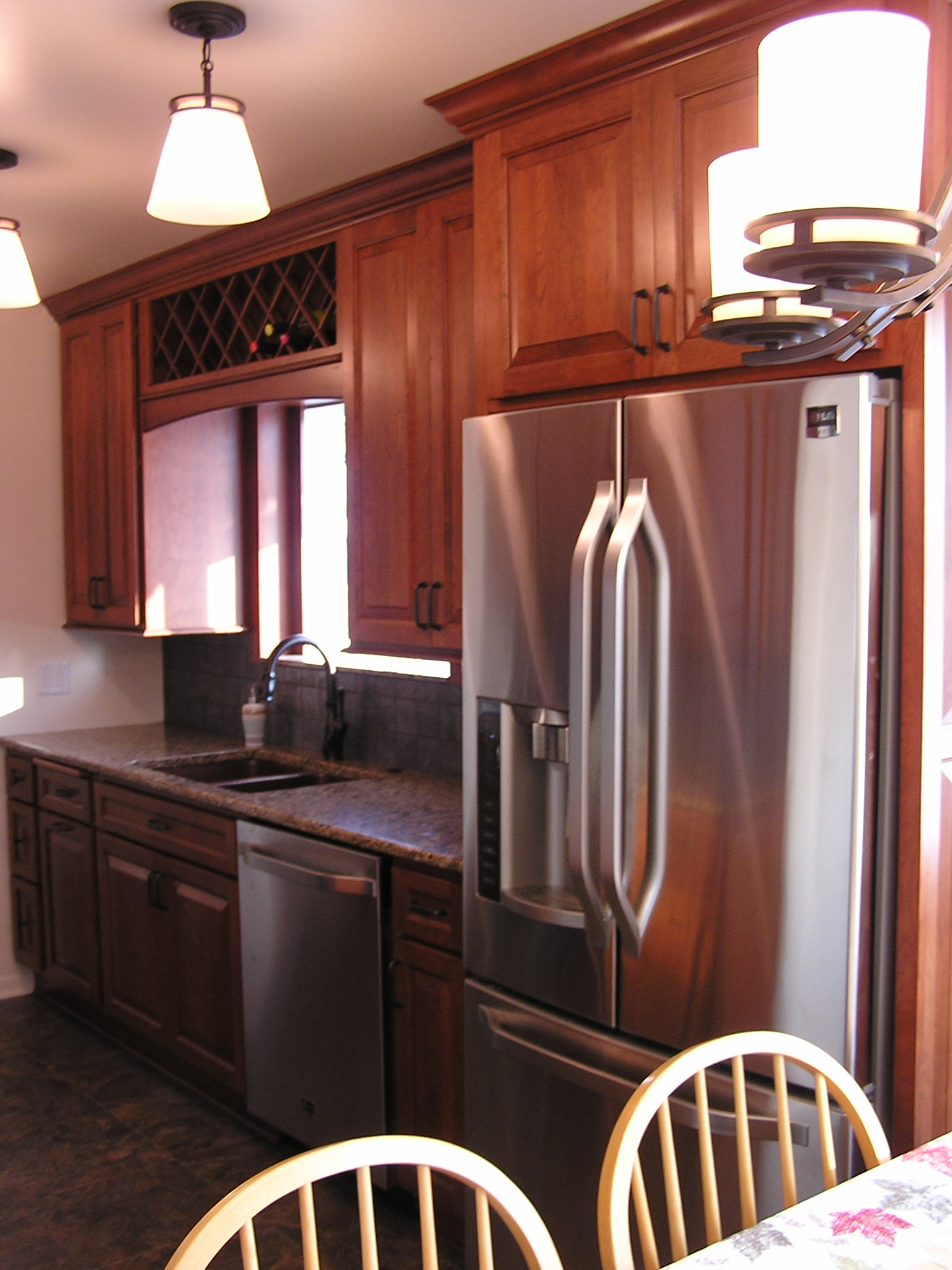 Kitchens with cherry cabinets