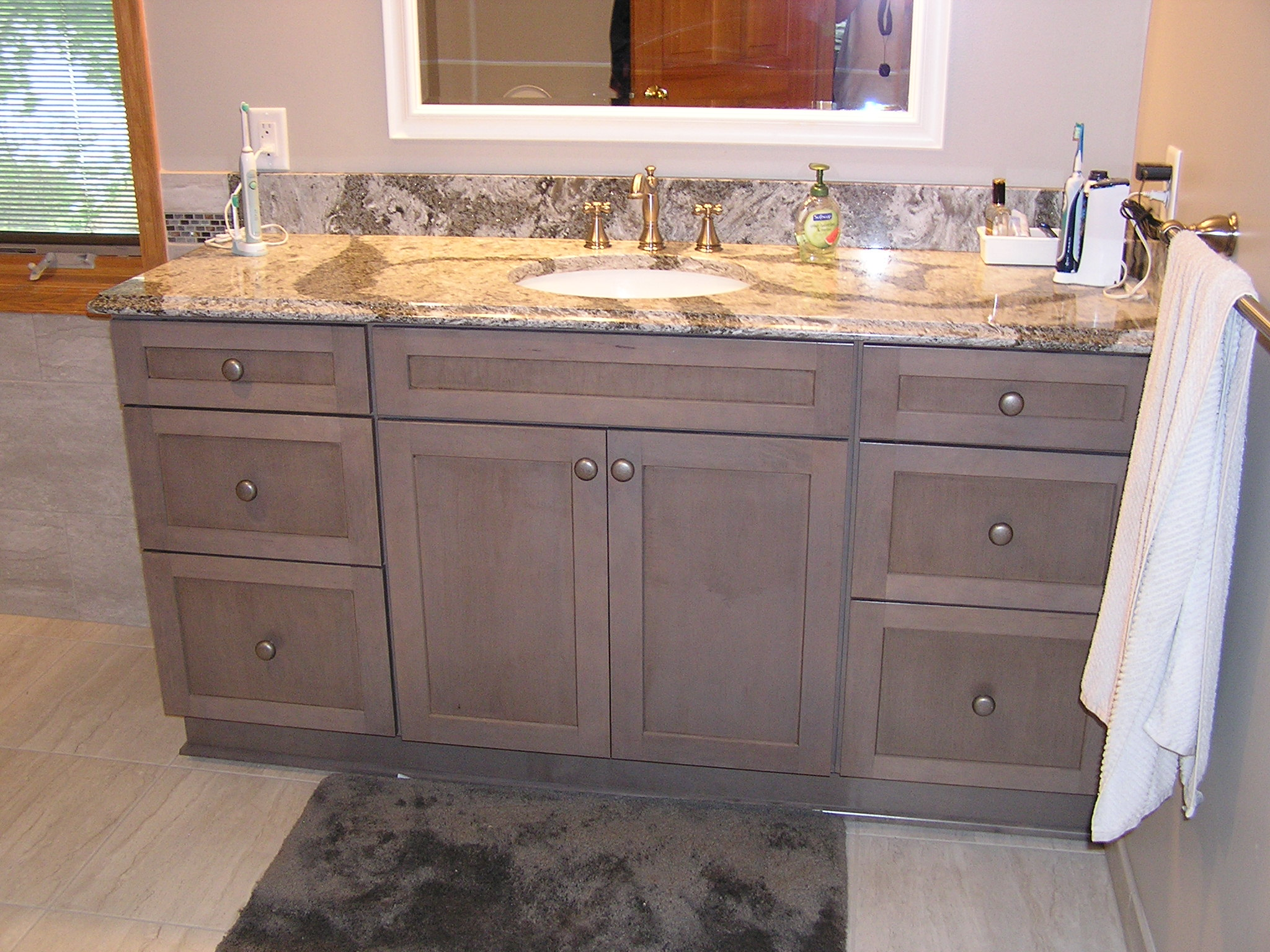Maple Vanity with Cambria top in the Twin Cities