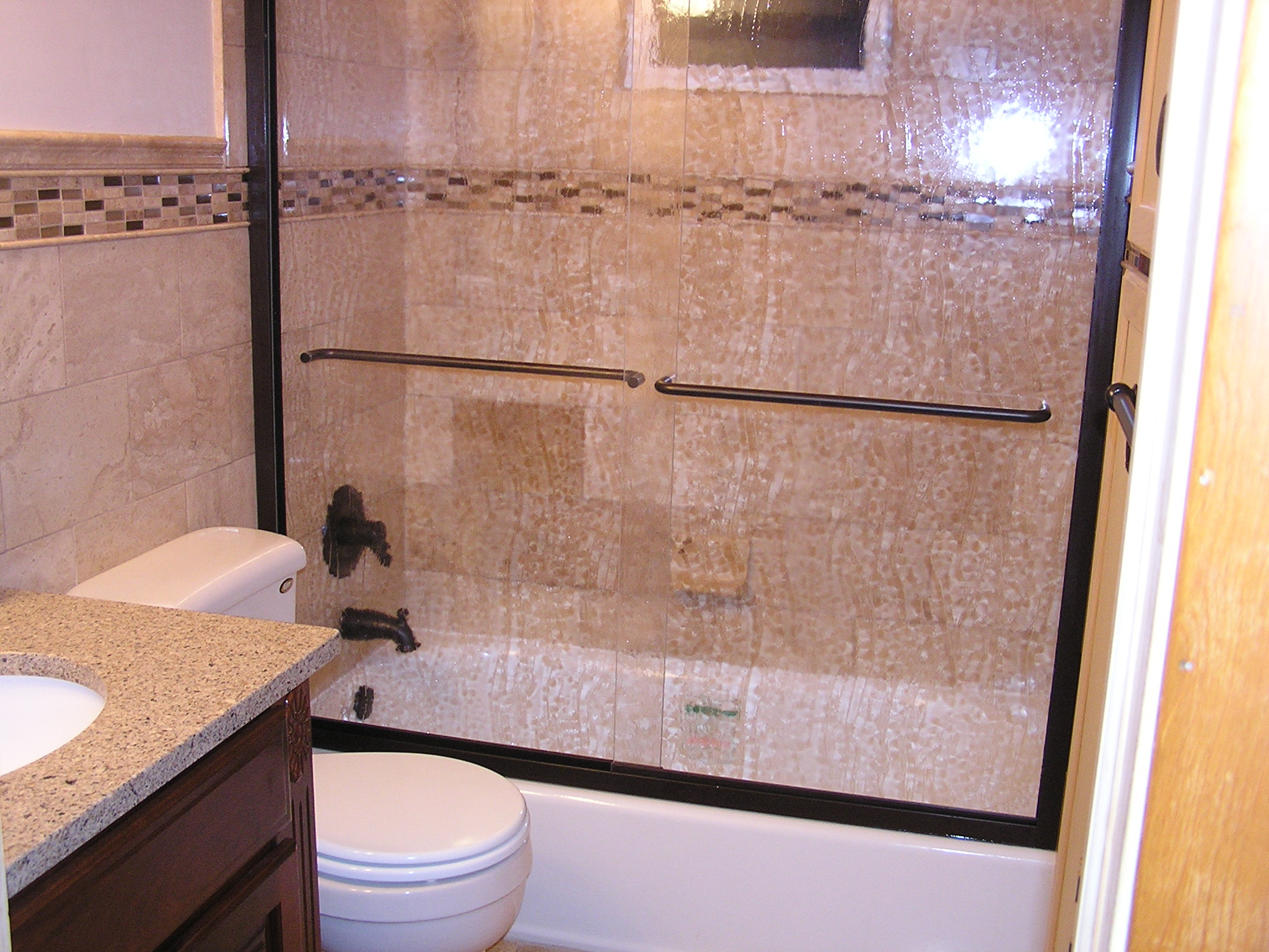 Bathroom Remodel with Italian Travertine Tile Allrounder Remodeling