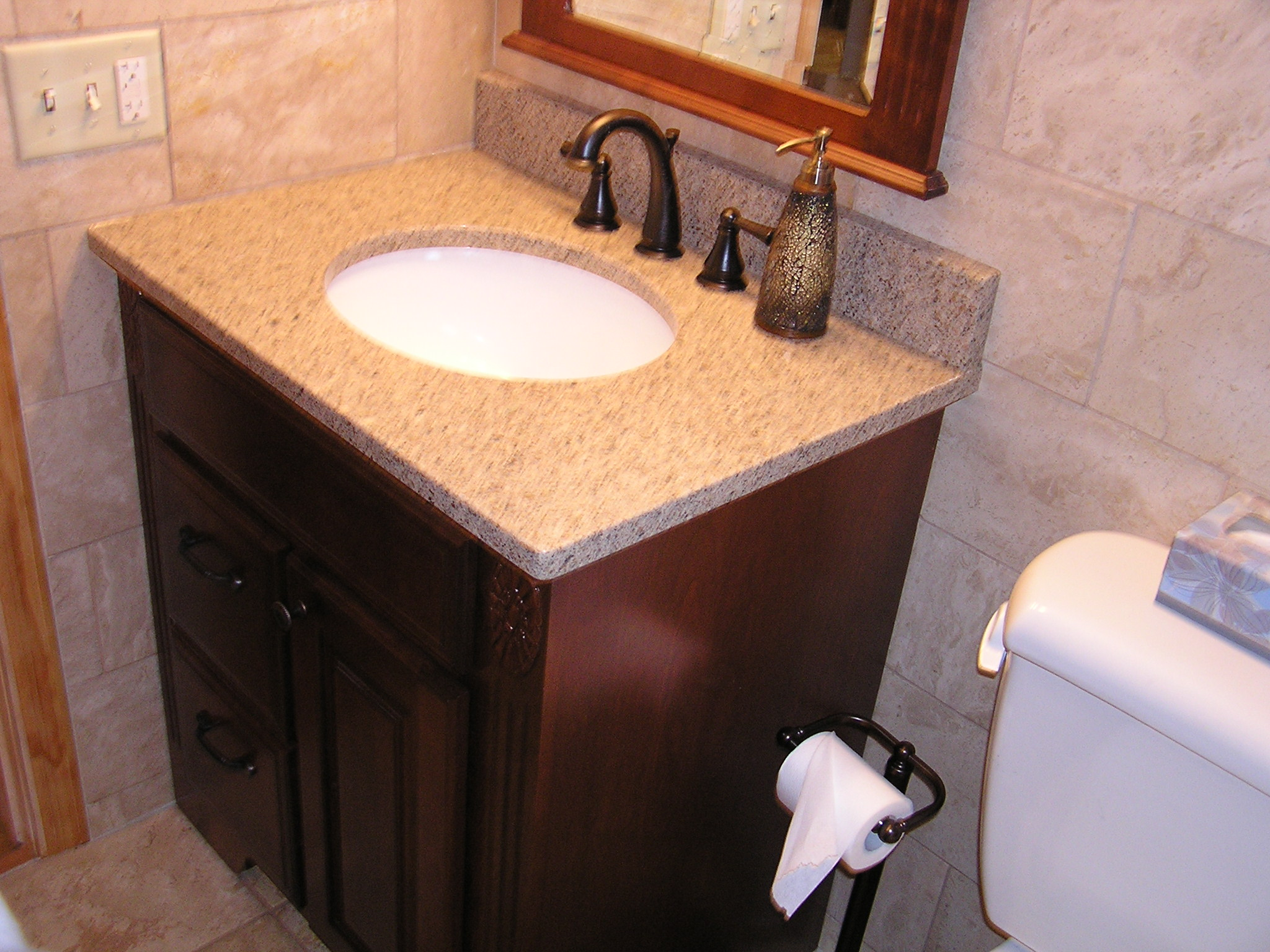 Bathroom Fixtures Twin Cities bathroom remodel with italian travertine tile - allrounder remodeling