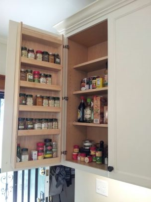 custom door-mounted spice rack