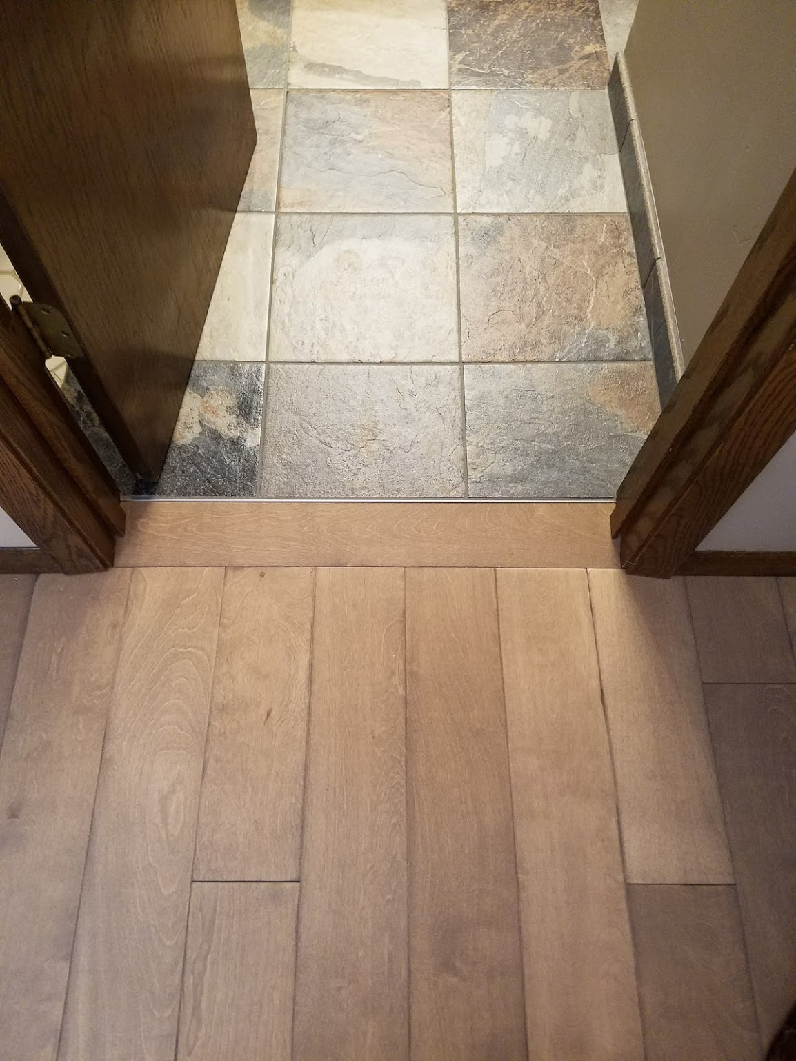 floor transition wood to tile