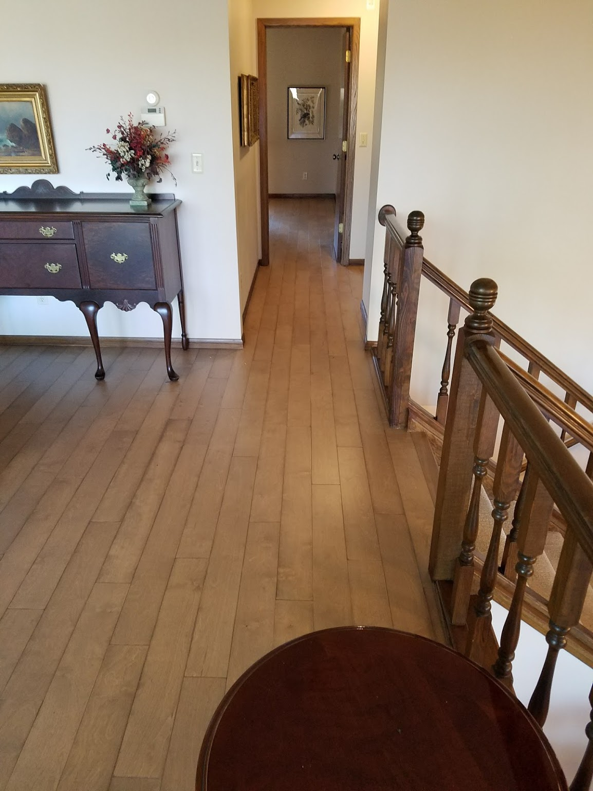 wood floor in hallway
