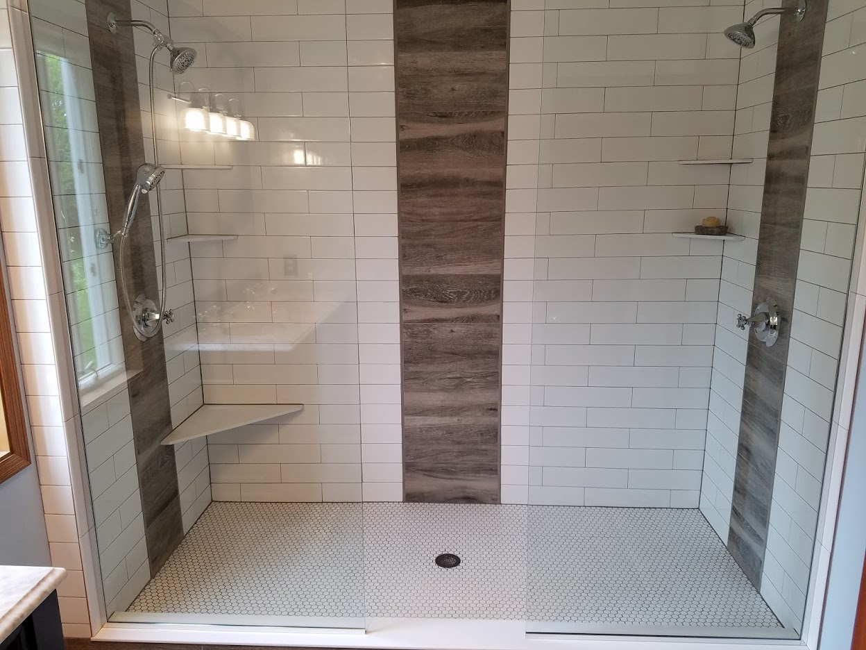 Custom large shower