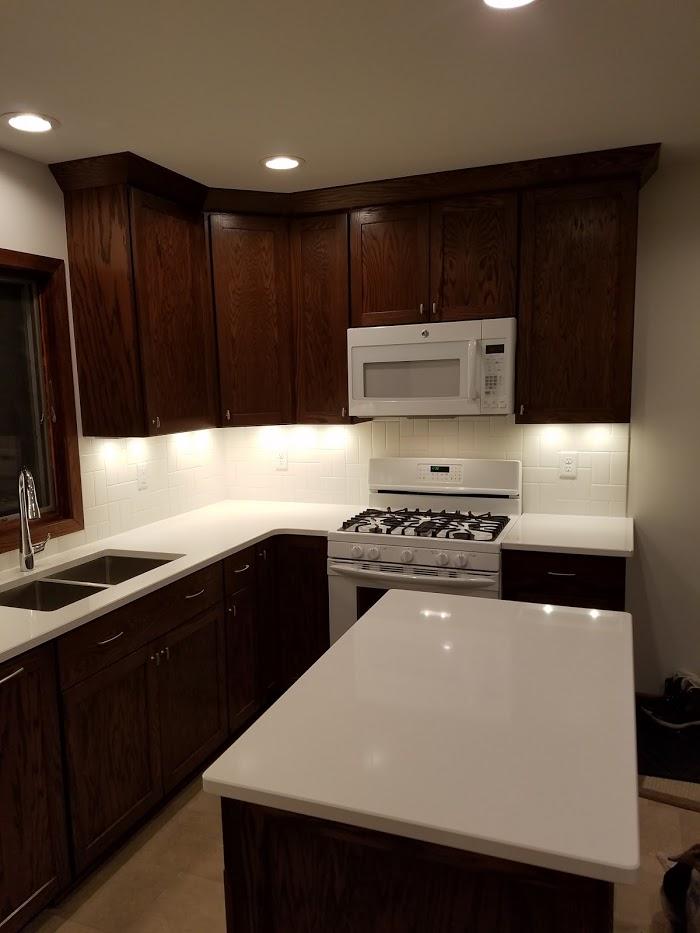 white and oak kitchen
