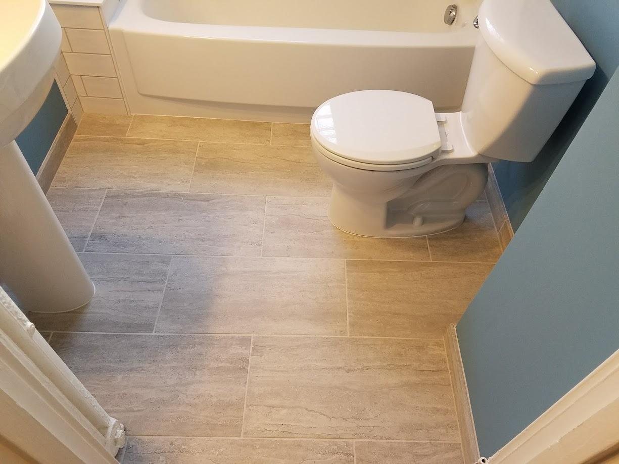 gray porcelain floor tile