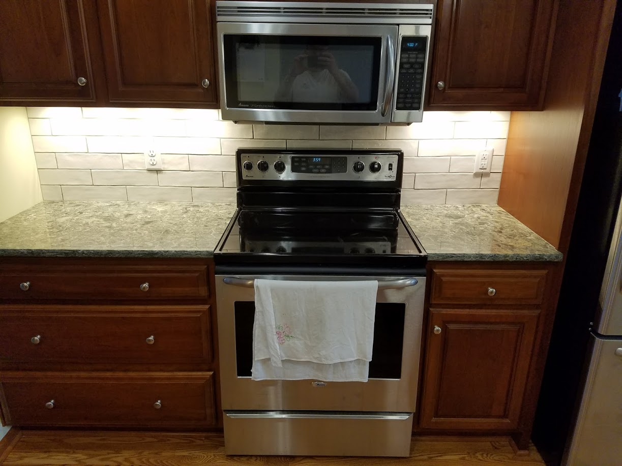 Kitchen range and microwave