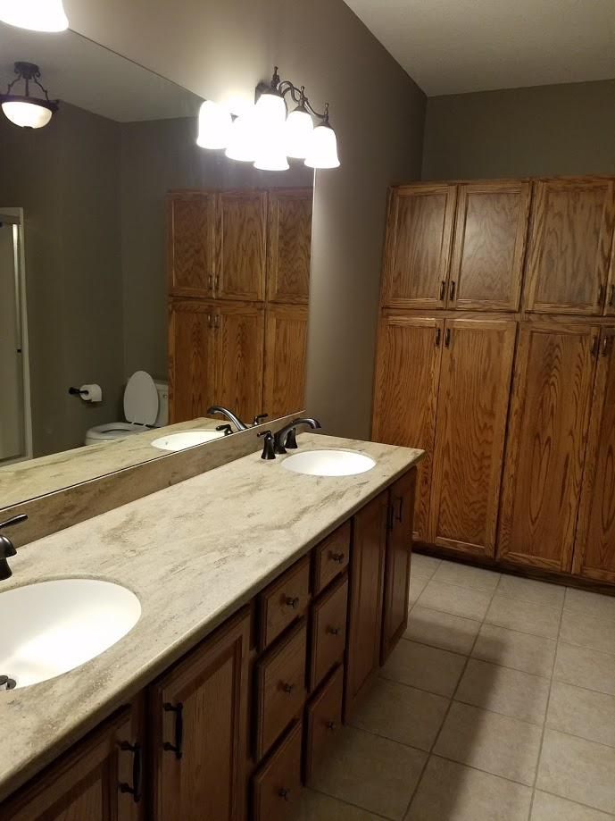 Master Bathroom with plenty of storage