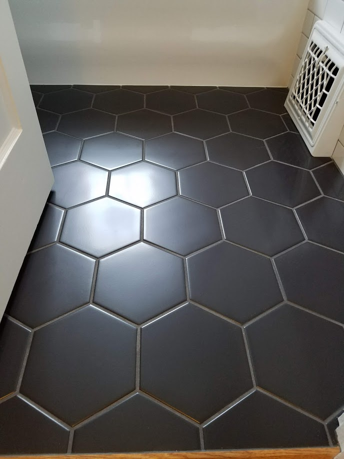 honeycomb tile black